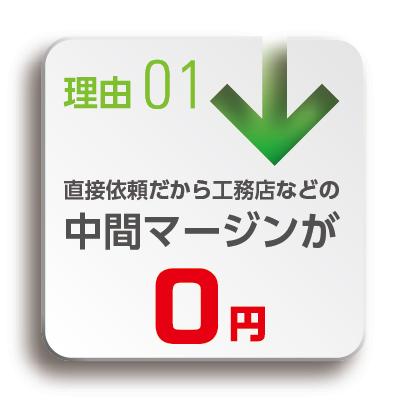 理由1:中間マージン0円
